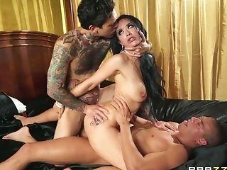 Tattooed Cougar Katrina Jade In Dual Foray Activity