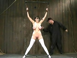Buxom Dark Haired Matures Bitch In Milky Stockings Gets Tied Up