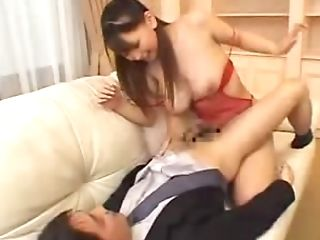 Japanese Office Lady Gets Hot Tit Fuck And She Loves It