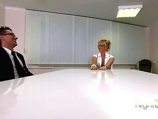 Huge-titted Blonde Assistant Is Fucked By Her Manager
