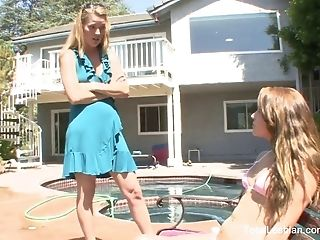 Blonde Mummy Trains Her Stepdaughter A Lesson