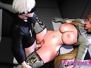 'nier Automata Anime Heroes With Big Bouncing Tits Getting...