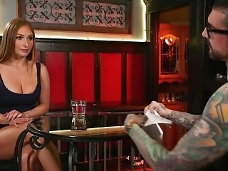 Tied Up And Suspended Honey Skylar Snow Gets Dual Penetrated