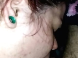 Cougar Bj's And Licks Dick Before Fucking