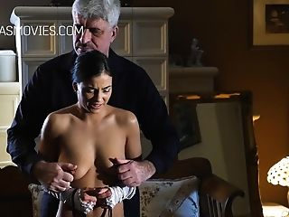 Nice Servant Lady Gets Her Tits Spanked