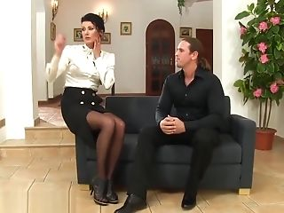 Stockings Cougar Drinks Piss