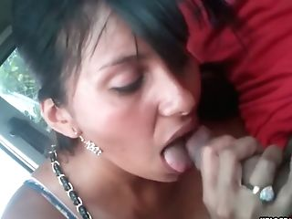 Matures Latina Wifey Shows Her Bum And Gargles Dick In A Car