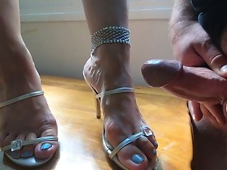 Jizz Flow All Over Wifey High High-heeled Slippers Mules Sandals