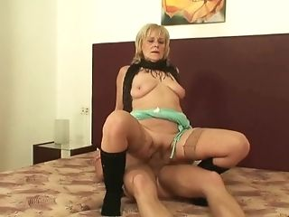 70 Years Old Blonde Escort Plays With His Big Shaft|1::big...
