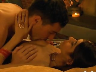 Romantic Indian Duo Making Love With Passion