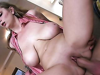 Huge-boobed Majesitc Milky Woman Feeds On A Dick And Rails It On...