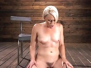 Sexy Blonde Cougar Gets Machine Fucked - Kink