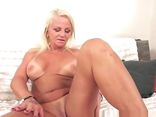 Huge-titted Gilf Fucked By Paramours Big Black Weenie