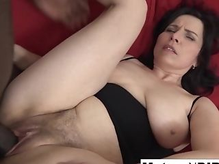 Matures With Natural Tits Gets A Internal Ejaculation In Her Hairy...
