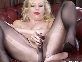 Blonde Big-titted Sexpot Lucy Gresty Fucks Muff With Humungous...