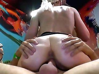 Filthy Blonde Whore Cant Get Enough Stiffy & Jizz