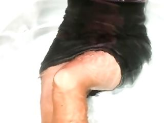 Heather Wearing Pantyhose And Flats In The Hot Bath Two