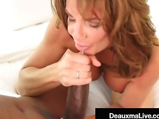 Big-chested Texas Cougar Deauxma Deep Throats & Fucks Big Black...