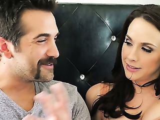 Alluring Raven Haired Cougar Chanel Preston Treats Dude With...