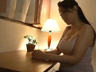 Japanese Stepmom Fucks Masturbating Stepson