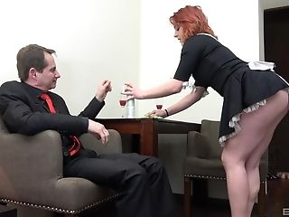 Red-haired Maid Anna Jelinkova Fucked In Front Of The Building Wifey
