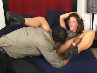 Cheating Brown-haired Mummy Loves To Rail A Big Black Cock