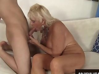 Big-chested Granny Mandi Mcgraw Delectations Youthful Paramour With...