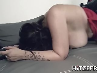 Hitzefrei Sexy German Stunner With Enormous Tits Wants It Hard