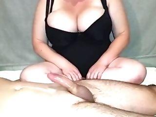 Mummy With Big Oiled Tits Strokes A Jizz-shotgun
