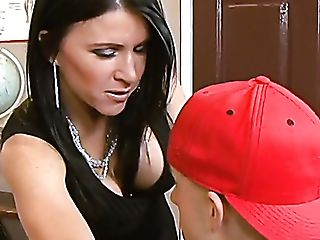 Raven Haired Kendra Spade Has Awesome Idea To Rail Dick On The Table