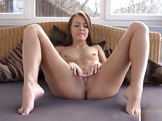 Wicked Czech Chick Opens Up Her Slender Cunt To The Extreme