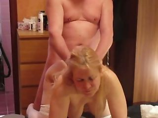 Blonde Russian Matures Whore Loves Rear End Style Fuck And Hair...