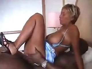 Beatiful Huge-boobed French Mummy Fucks With A Big Black Cock Only...