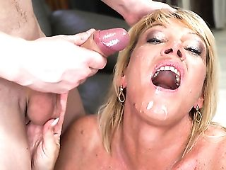Huge-boobed Wild Blonde Matures Whore Mummy Amy Is Made For Railing...