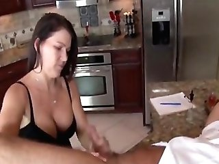 Jerking The Old An In The Kitchen