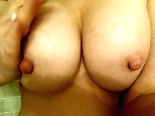 Hot Cougar Playing With Nips