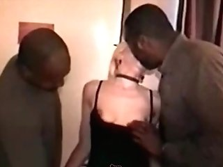 Swinger milf with 2 black guys