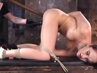 Mummy Dark Haired Hog Tied And Tortured