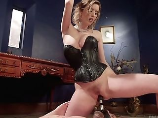 Brutish Mistress Cherry Ripped Fucks Ex-beau And Makes His Rectum...