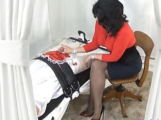 Domina Mommy Gives Tied Up Slave Hand Jobs Prostate Stimulation