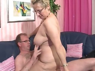Old Far Fucks His Horny Old Woman And Cums In Her Mouth