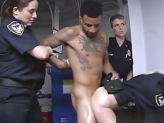 Tattooed Black Stud Pounding Blonde Cop