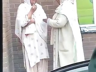 Old Woman Smoking Paki