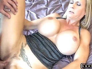 Big Tits Blonde Mummy Fucked By Lucky Dude