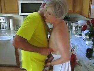 Grey Haired Matures Whore Lets Her Hubby Have Fun With Her Smallish...