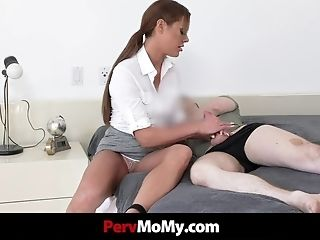Stepmother Gives Arm-job To Get Fucked In Point Of View Rear...