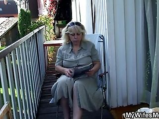Fucking old mom in law outside