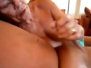 Granny wanks him and bj's