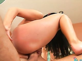 Naturally Stuck Dark Haired Gives Awesome Bj And She Rails Rigid...