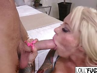 Lolly Ink Gets Her Pretty Face Covered In Jizm